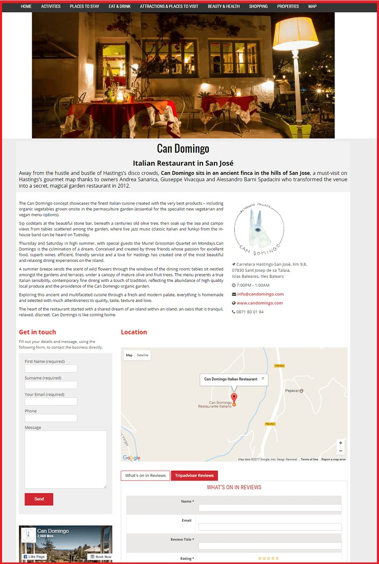 Sales Page Example when Advertise with us What's on in Chelmsford.com