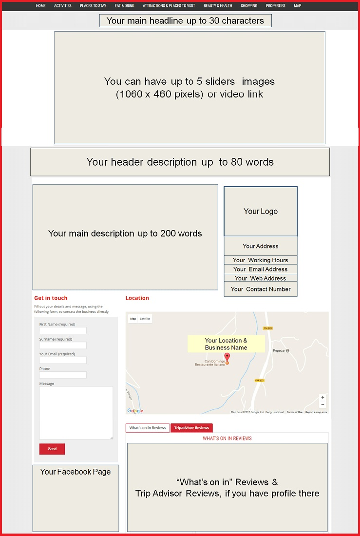 Sales Page Layout when Advertise in Chelmsford